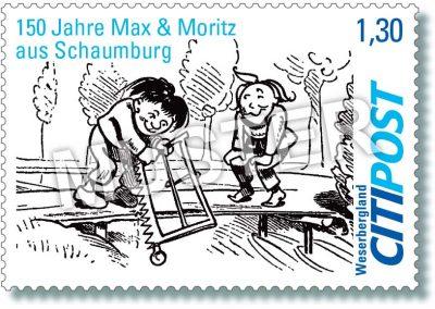 CITIPost Weserbergland - 150 Jahre Max und Moritz 2019 - Einzelm
